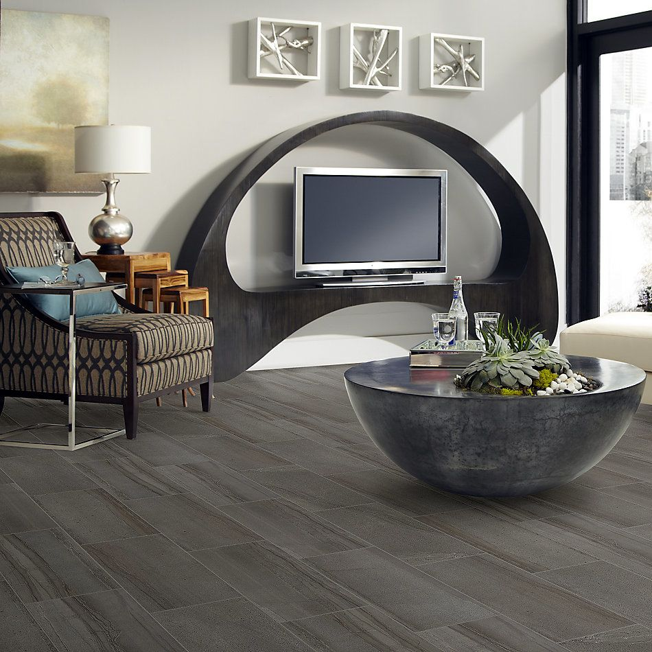 Shaw Floors Home Fn Gold Ceramic Pantheon 12×24 Matte Coal 00550_TG06A