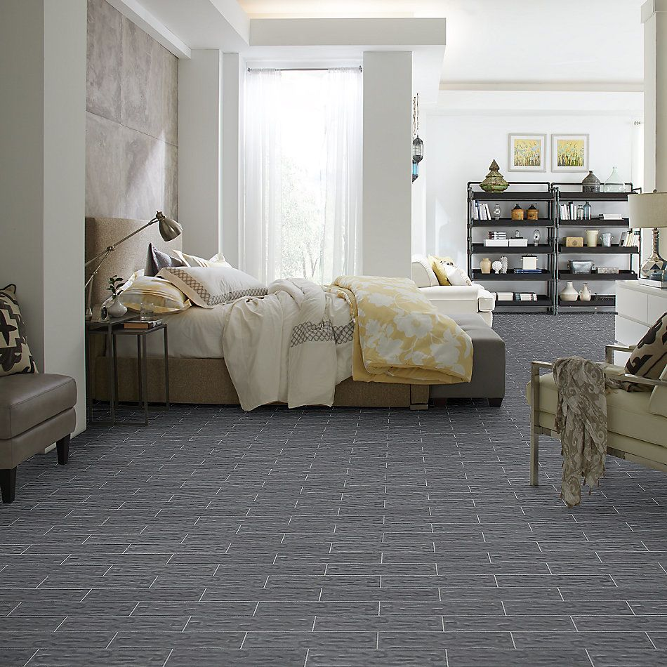 Shaw Floors Home Fn Gold Ceramic Geoscapes 4×16 Dark Grey 00550_TG44C