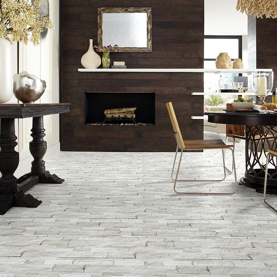 Shaw Floors Home Fn Gold Ceramic Firestone Split Face Strada Mist 00550_TG55D