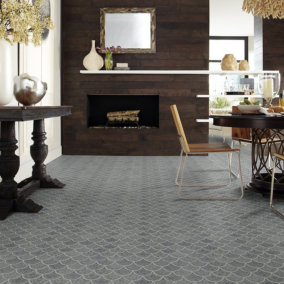 Shaw Floors Home Fn Gold Ceramic Geoscapes Fan Dark Gray 00550_TG86A