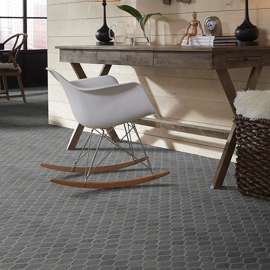Shaw Floors Home Fn Gold Ceramic Geoscapes Diamond Dark Grey 00550_TGJ79