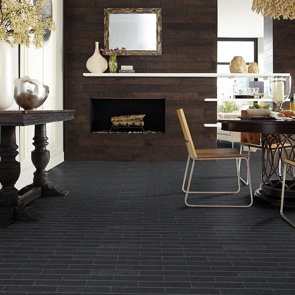 Shaw Floors Ceramic Solutions Geoscape Brick Black 00555_194TS