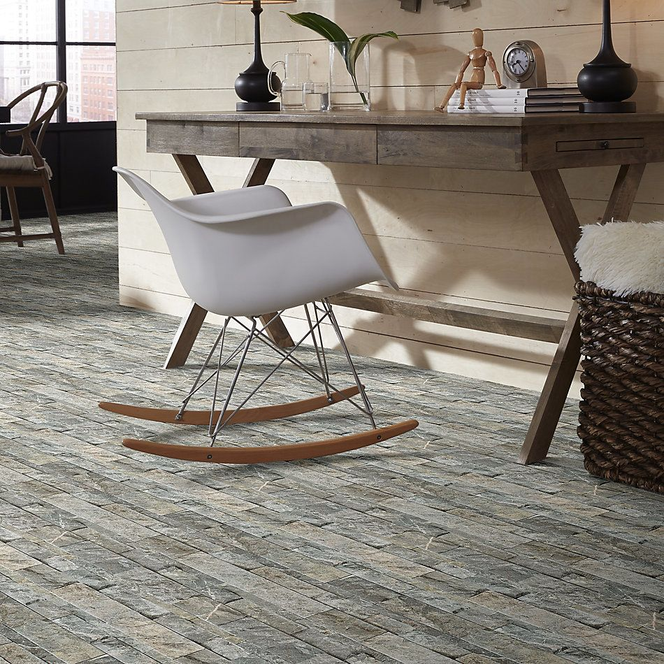 Shaw Floors Ceramic Solutions Firestone Split Face Stark Carbon 00555_195TS
