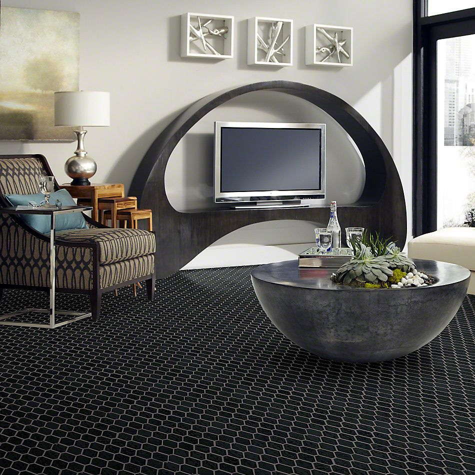 Shaw Floors Ceramic Solutions Geoscapes Diamond Black 00555_CS51V