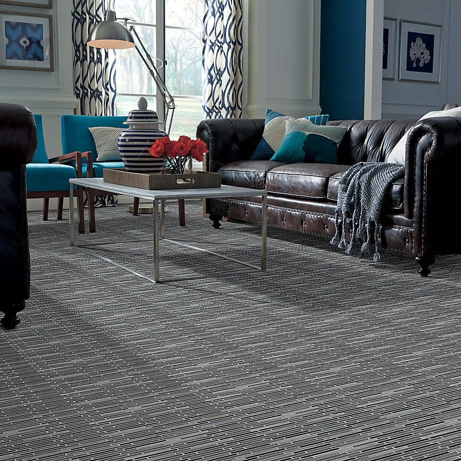 Shaw Floors Ceramic Solutions Molten Linear Glass Obsidian 00555_CS53V