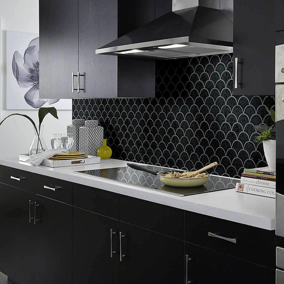 Shaw Floors Ceramic Solutions Geoscape Fan Black 00555_CS99V