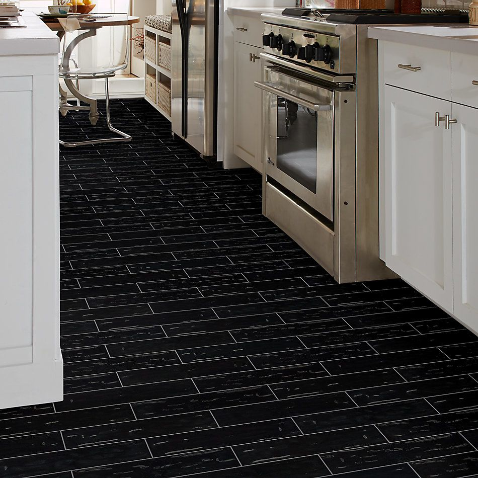 Shaw Floors Home Fn Gold Ceramic Geoscapes 4×16 Black 00555_TG44C