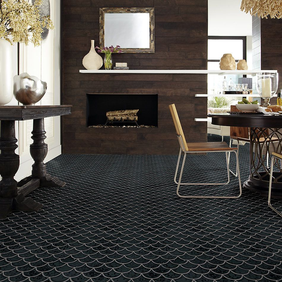Shaw Floors Home Fn Gold Ceramic Geoscapes Fan Black 00555_TG86A