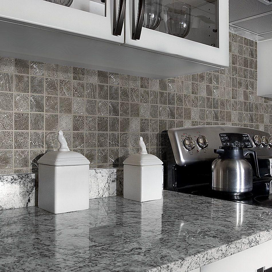 Shaw Floors Home Fn Gold Ceramic Serenity Mosaic Dark Grey 00570_TGJ92