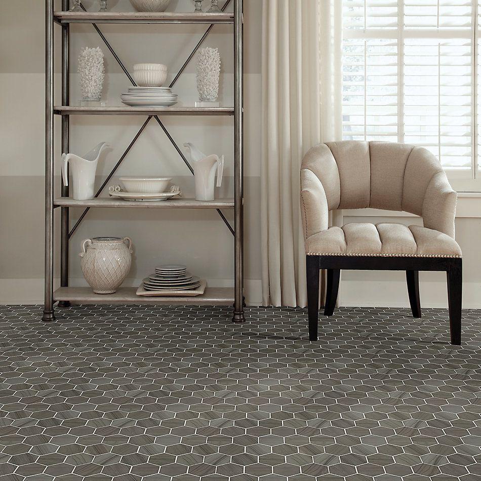 Shaw Floors Home Fn Gold Ceramic Estate Hexagon Mosaic Urban Grey 00570_TGN87