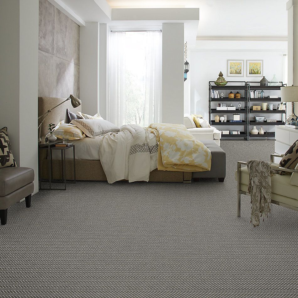 Shaw Floors Home Fn Gold Ceramic Estate Herringbone Mosaic Urban Grey 00570_TGN88