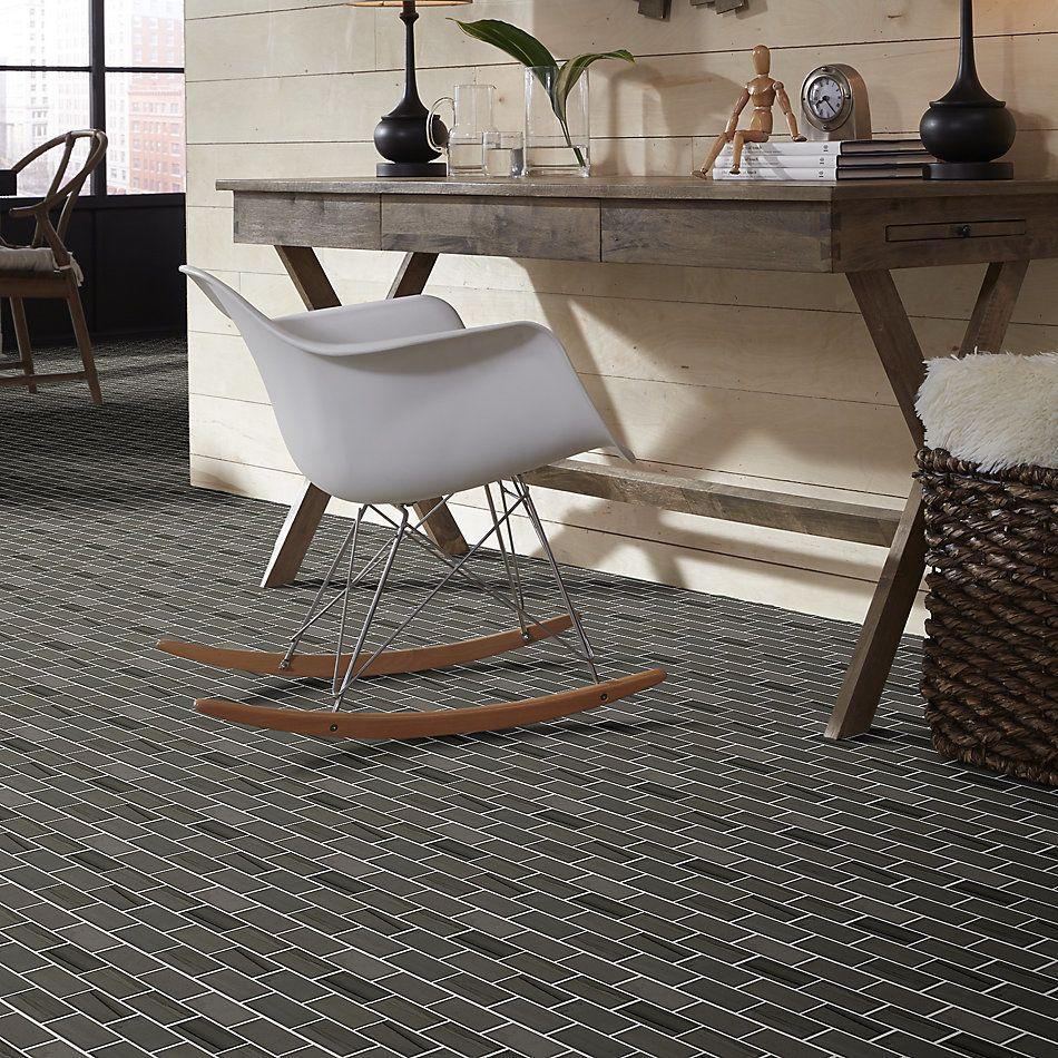 Shaw Floors Home Fn Gold Ceramic Estate 2×4 Beveled Edge Mosaic Urban Grey 00570_TGN89