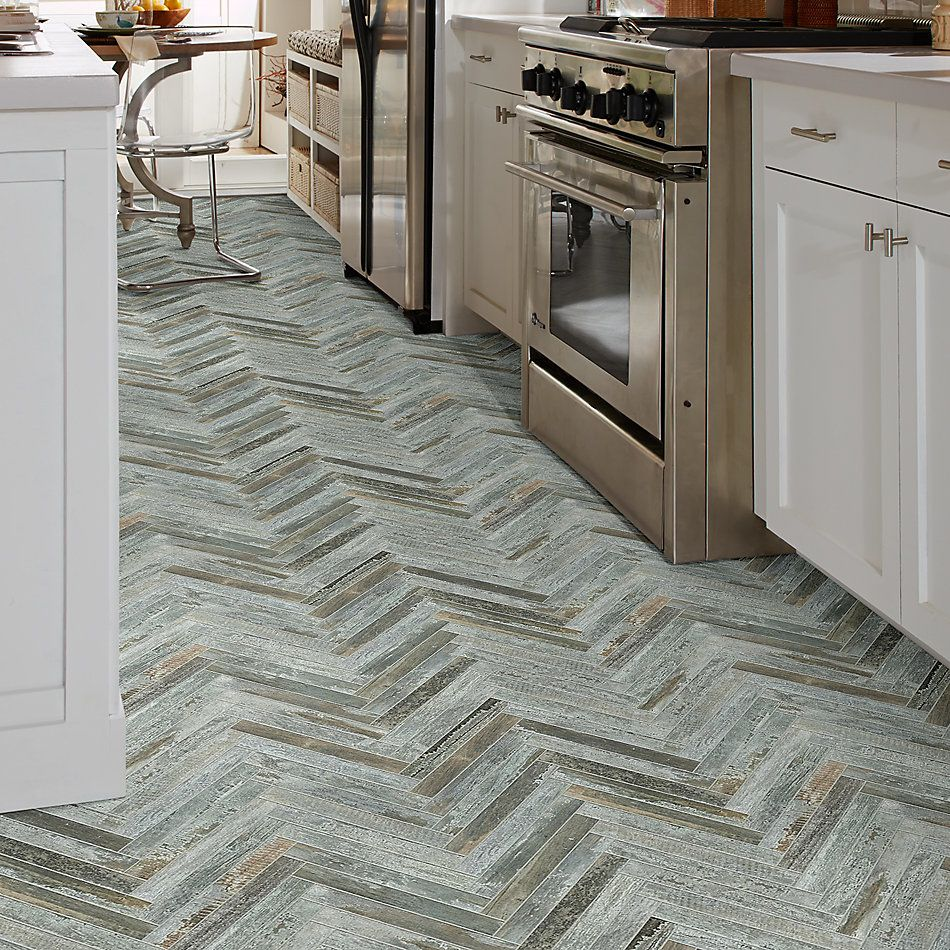 Shaw Floors Ceramic Solutions Fusion Herringbone Mosaic Steel 00571_190TS