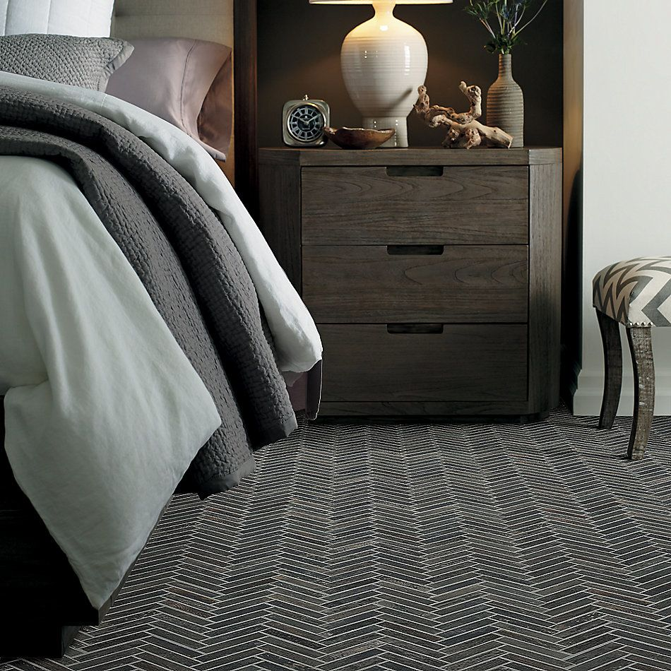 Shaw Floors Charwood Herringbone Mosaic Carbon 00571_TG30D