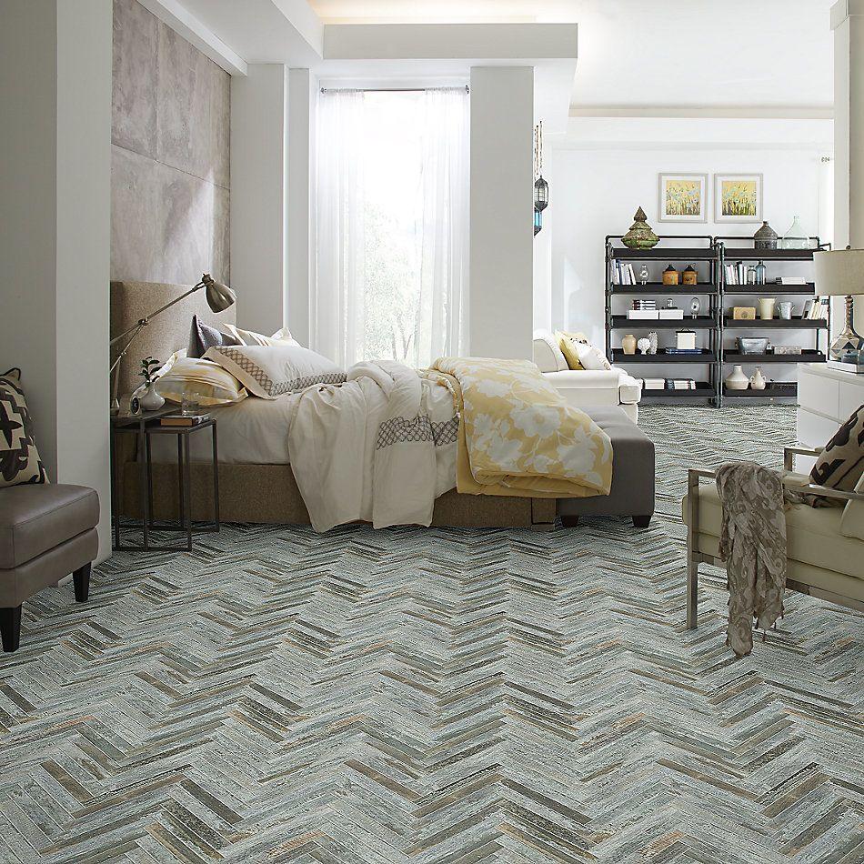 Shaw Floors Home Fn Gold Ceramic Forge Herrinbone Mosaic Steel 00571_TG54D