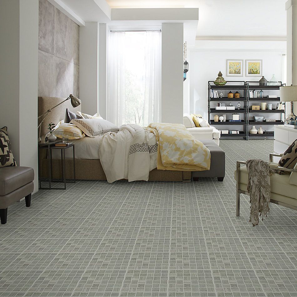 Shaw Floors Ceramic Solutions Basis Basketweave Mosaic Carbon 00590_CS22W
