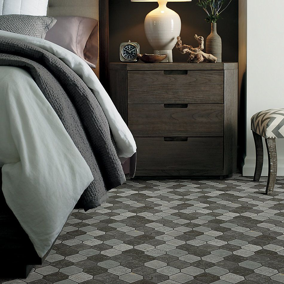 Shaw Floors Home Fn Gold Ceramic Del Ray Stret Hex Milly Gray 00590_TG40C