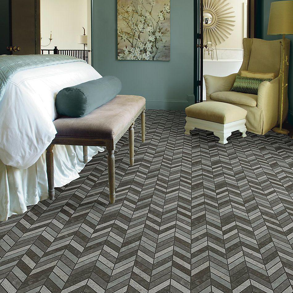 Shaw Floors Home Fn Gold Ceramic Del Ray Chevron Milly Gray 00590_TG43C