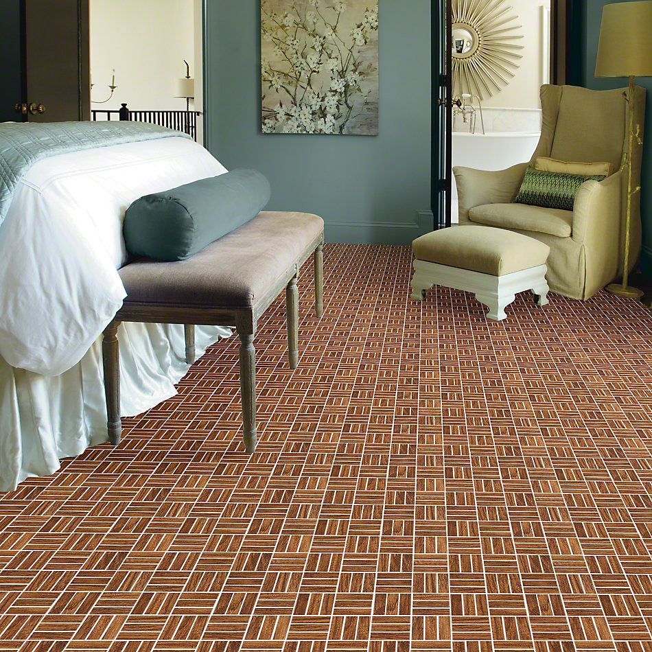 Shaw Floors Ceramic Solutions Petrified Hickory Mosaic Ancient 00600_CS56Q