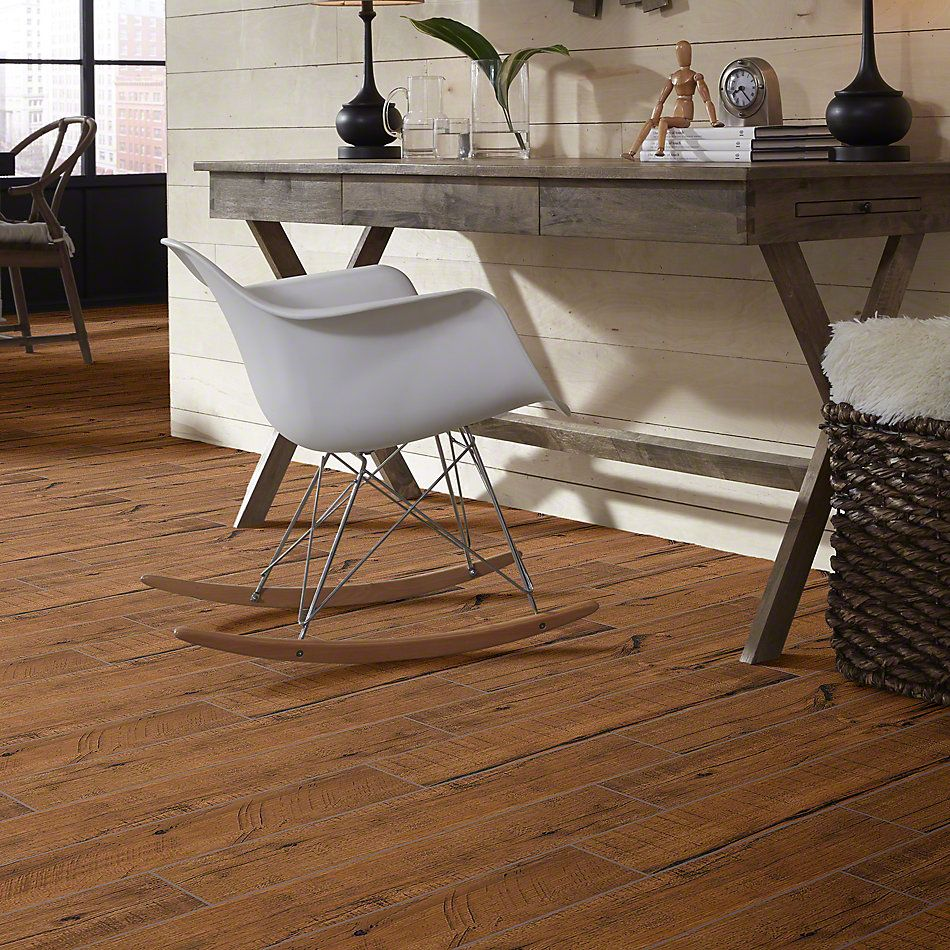 Shaw Floors Ceramic Solutions Fired Hickory 6×36 Nutmeg 00670_CS37M