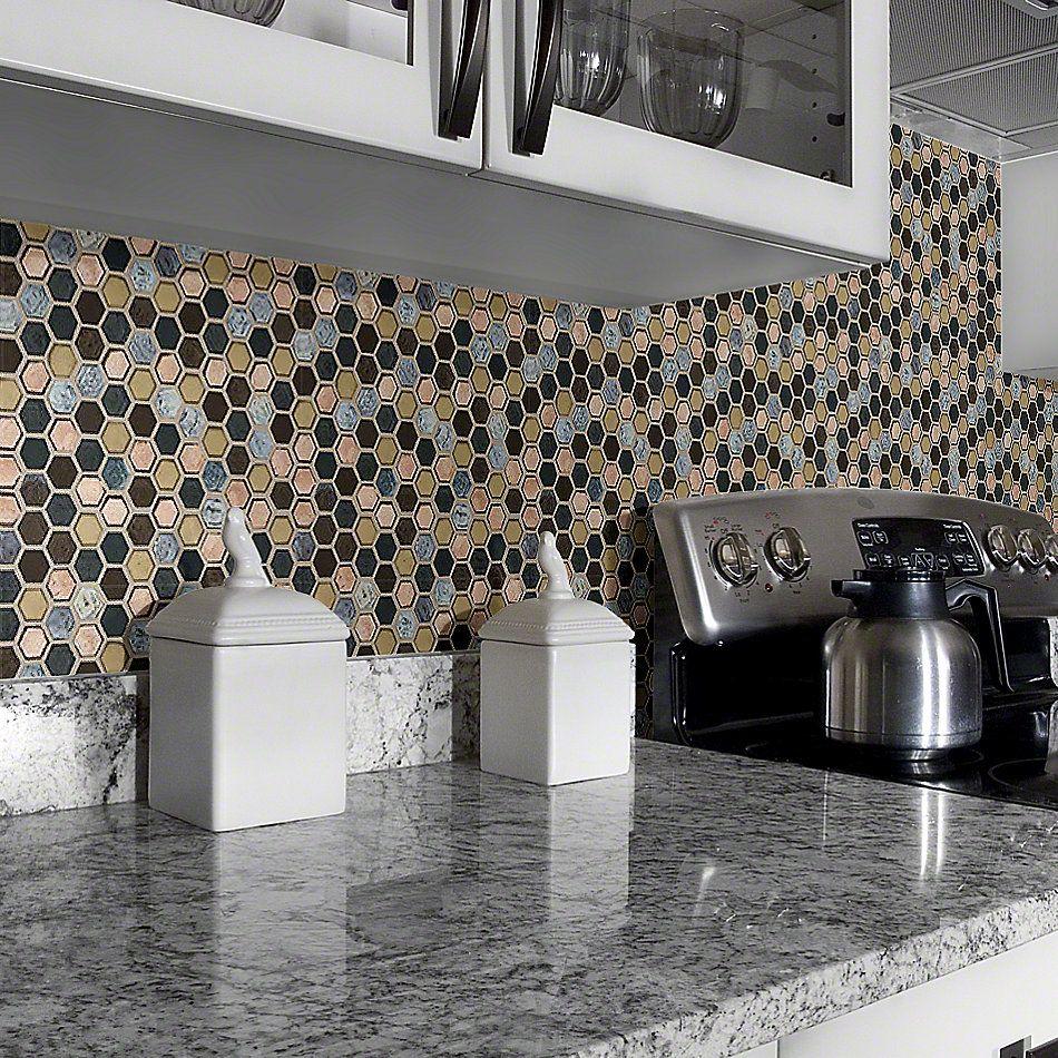 Shaw Floors Ceramic Solutions Molten Hexagon Glass Bronze 00675_CS52V