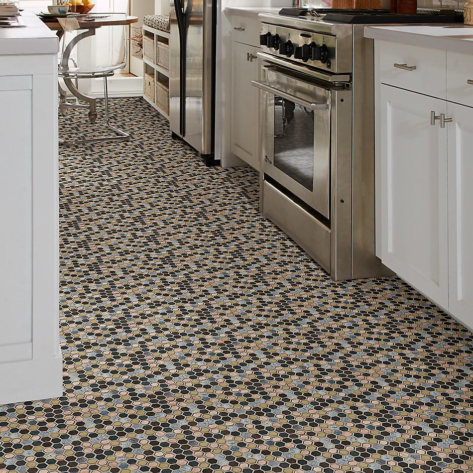 Shaw Floors Home Fn Gold Ceramic Molten Hexagon Glass Bronze 00675_TGJ82
