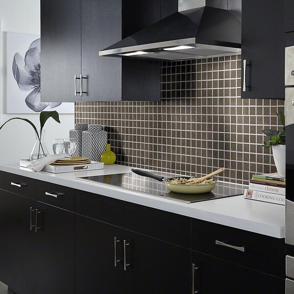 Shaw Floors Ceramic Solutions Courtside Mosaic Brown 00700_CS83Q