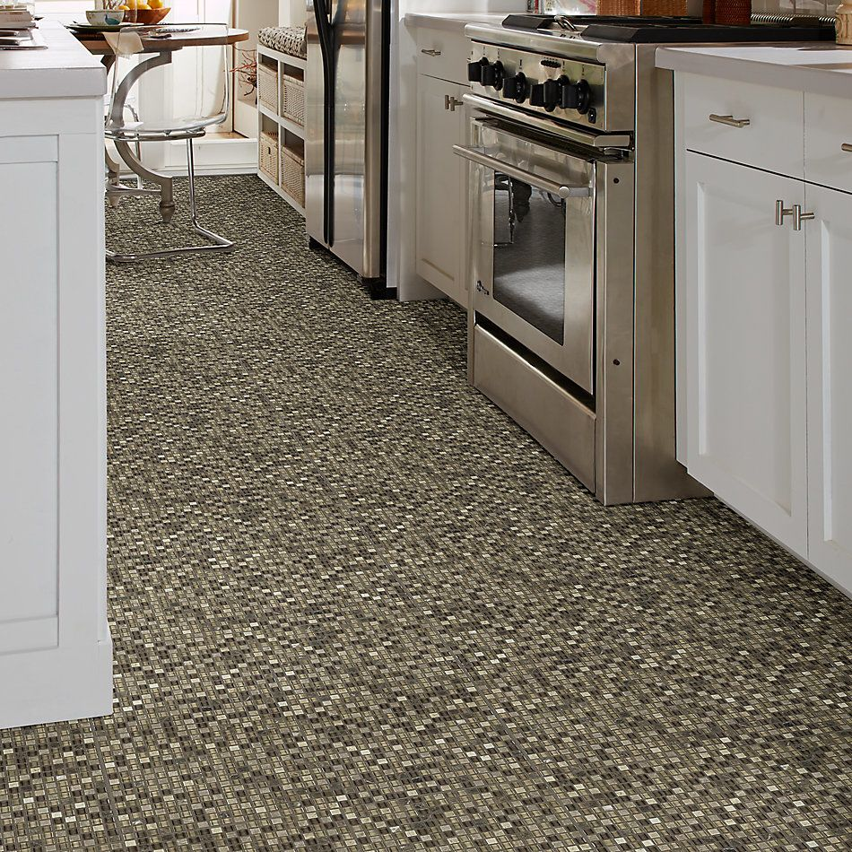 Shaw Floors Home Fn Gold Ceramic Awesome Mix 5/8 Mosaic' Cappuccino 00700_TG61B