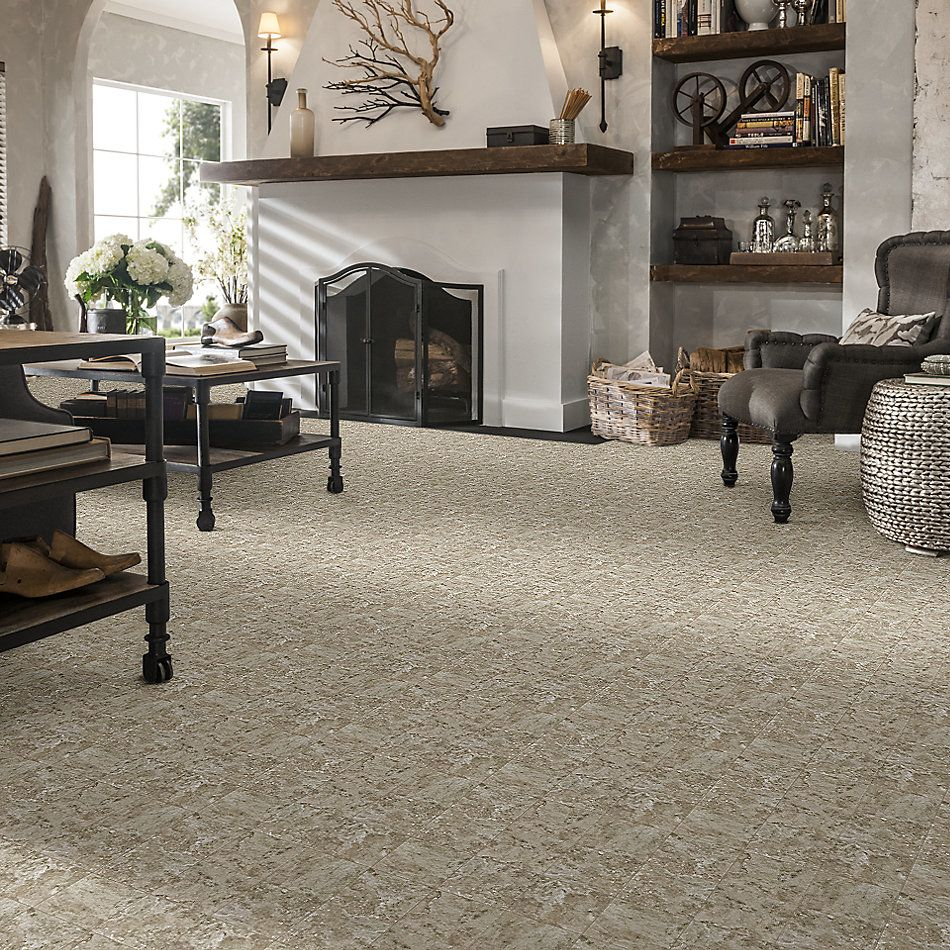 Shaw Floors Home Fn Gold Ceramic Cassio 13×13 Brown 00700_TG92D