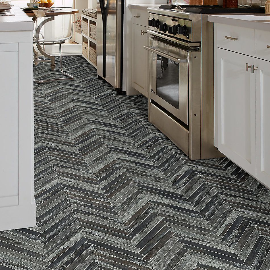 Shaw Floors Ceramic Solutions Fusion Herringbone Mosaic Lithium 00750_190TS
