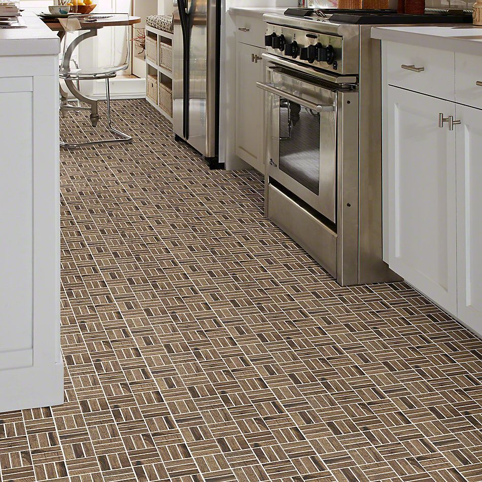 Shaw Floors Ceramic Solutions Fired Hck Mosaic Pecan 00750_CS57Q