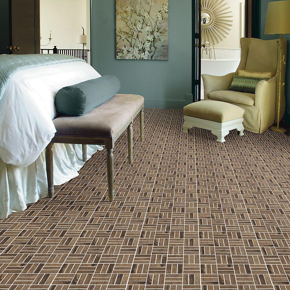 Shaw Floors Home Fn Gold Ceramic Denali Mosaic Pecan 00750_TGJ68