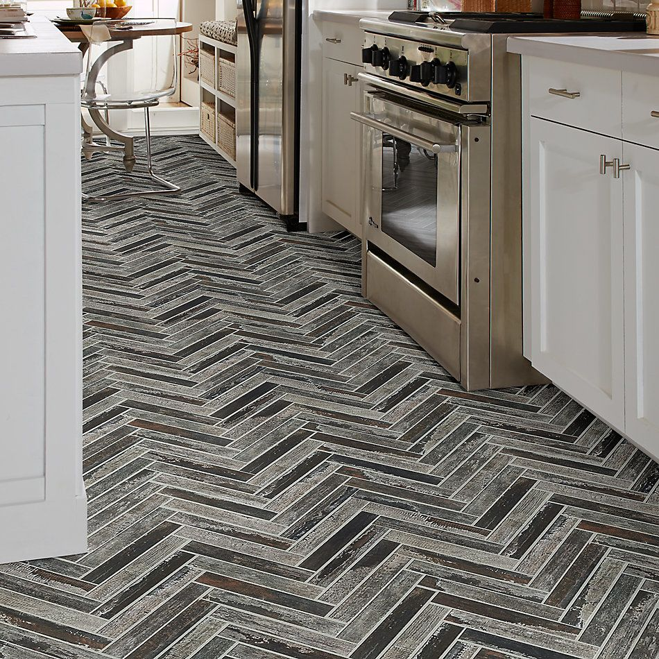 Shaw Floors Ceramic Solutions Fusion Herringbone Mosaic Copper 00751_190TS