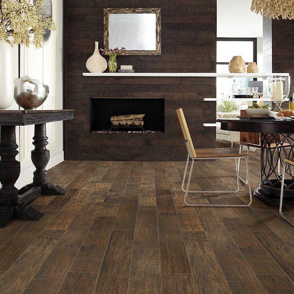 Shaw Floors Home Fn Gold Ceramic Plantation 6×36 Walnut 00770_TG46A