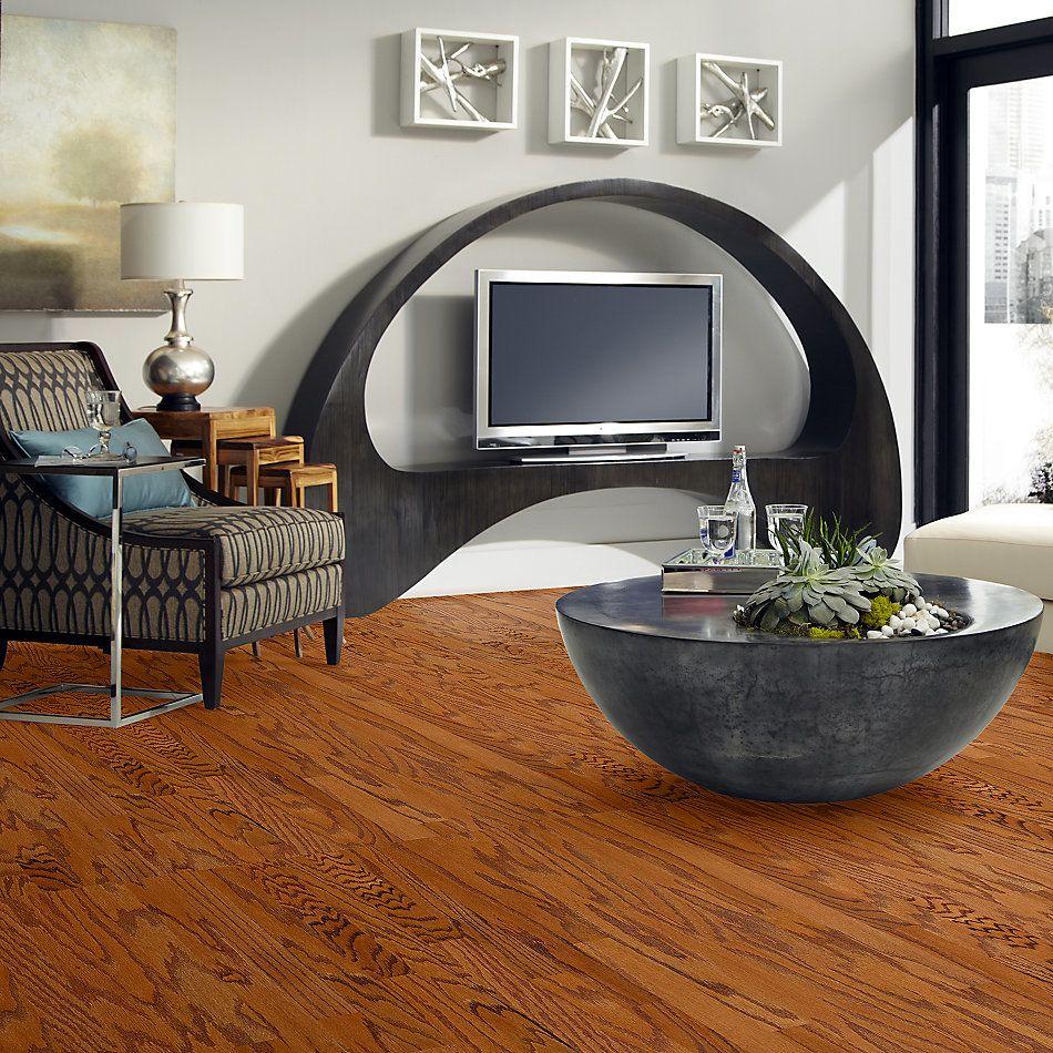 Shaw Floors Duras Hardwood All In II 3.25 Gunstock 00780_HW581