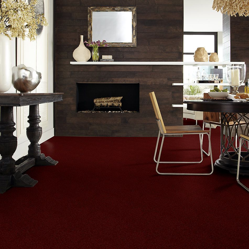 Shaw Floors Value Collections Full Court Net Red Wine 00801_E0713