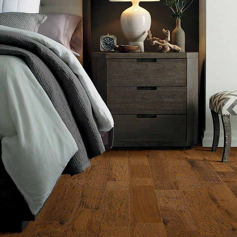 Shaw Floors Shaw Hardwoods Stone Bluff Hickory Warm Sunset 00879_LS400