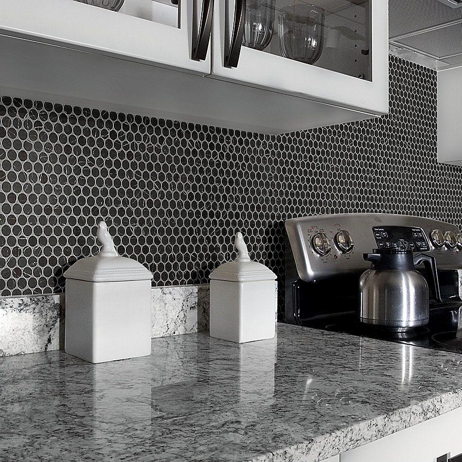 Shaw Floors Home Fn Gold Ceramic Affair Penny Round Black Tie 00900_TG13E