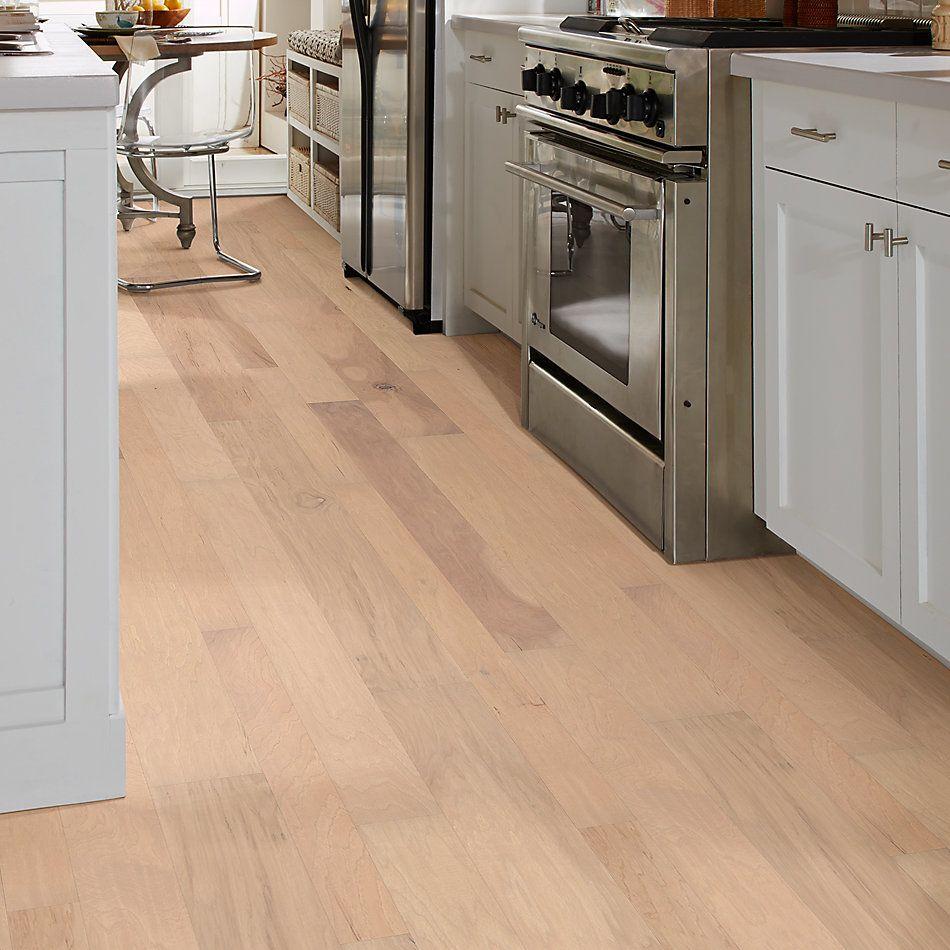 Shaw Floors Home Fn Gold Hardwood Wayward Hickory Mixed Width Linen 01086_HW718