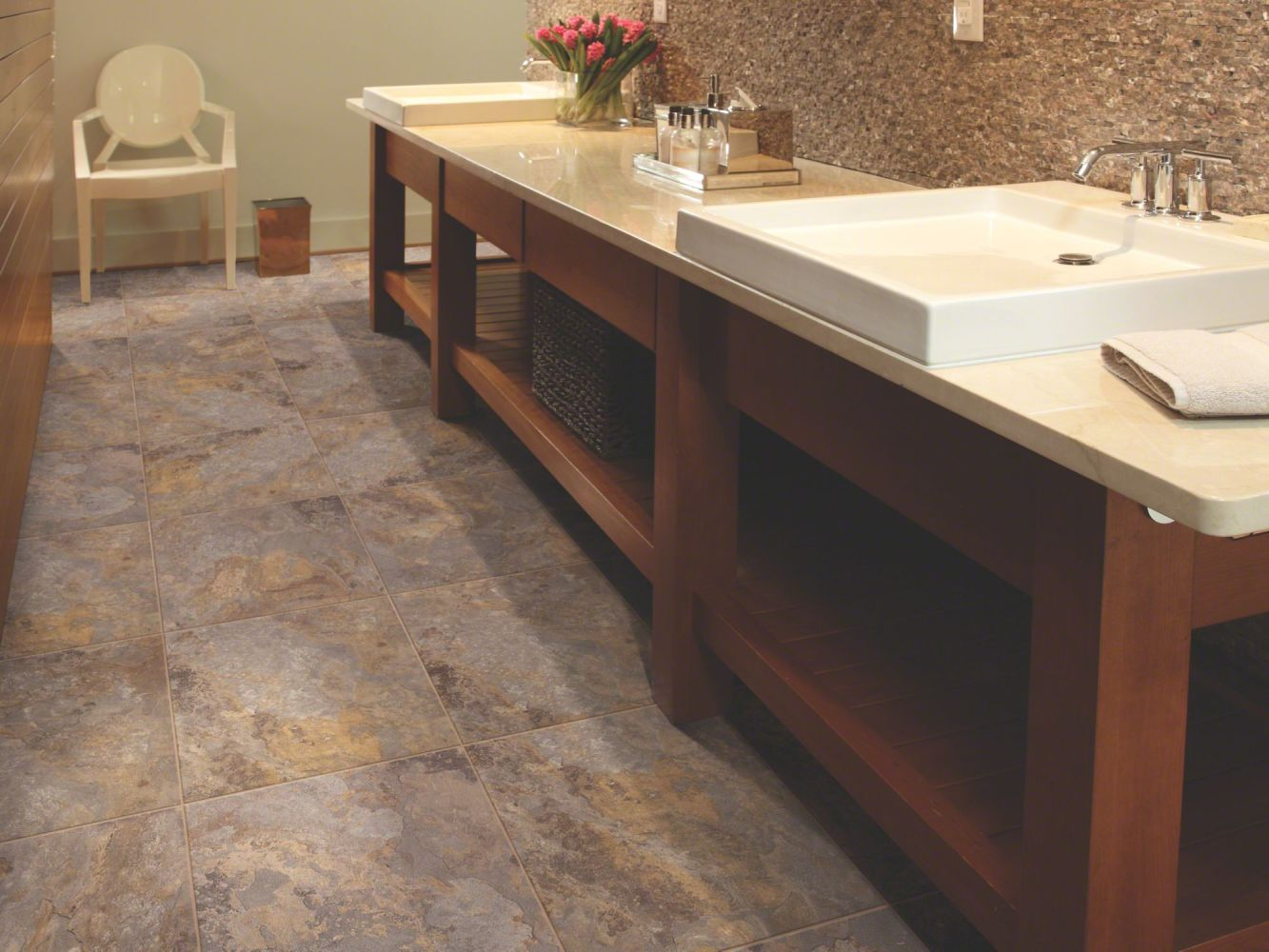 Shaw Floors Resilient Residential Resort Tile Walnut 00701_0189V