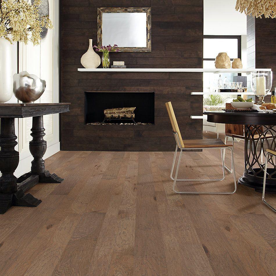 Shaw Floors Home Fn Gold Hardwood Wayward Hickory Mixed Width Rattan 05088_HW718