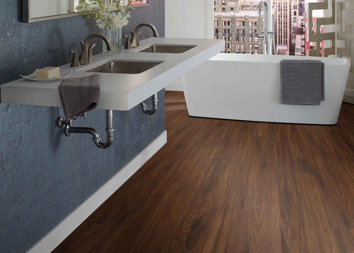Shaw Floors Vinyl Residential Prime Plank Deep Mahogany 00703_0616V