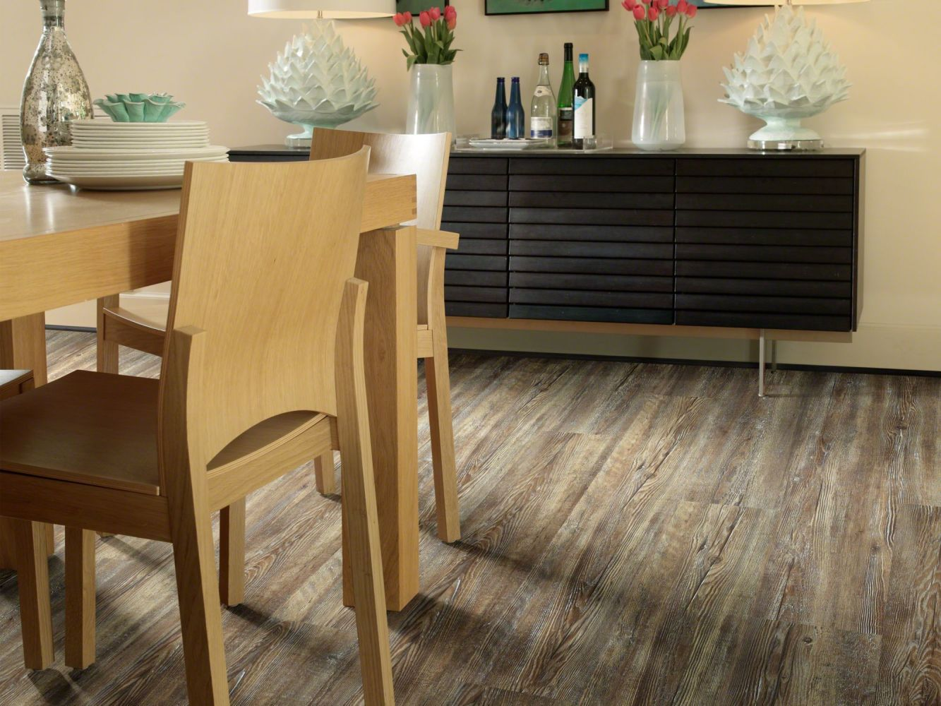 Shaw Floors Vinyl Residential Prime Plank Tattered Barnboard 00717_0616V
