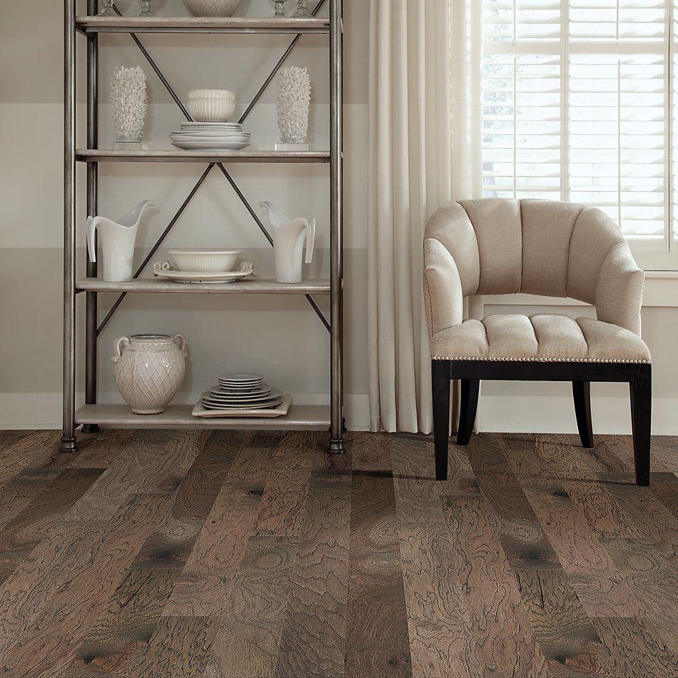 Shaw Floors Home Fn Gold Hardwood Flat Iron 5 Hide 07069_HW711