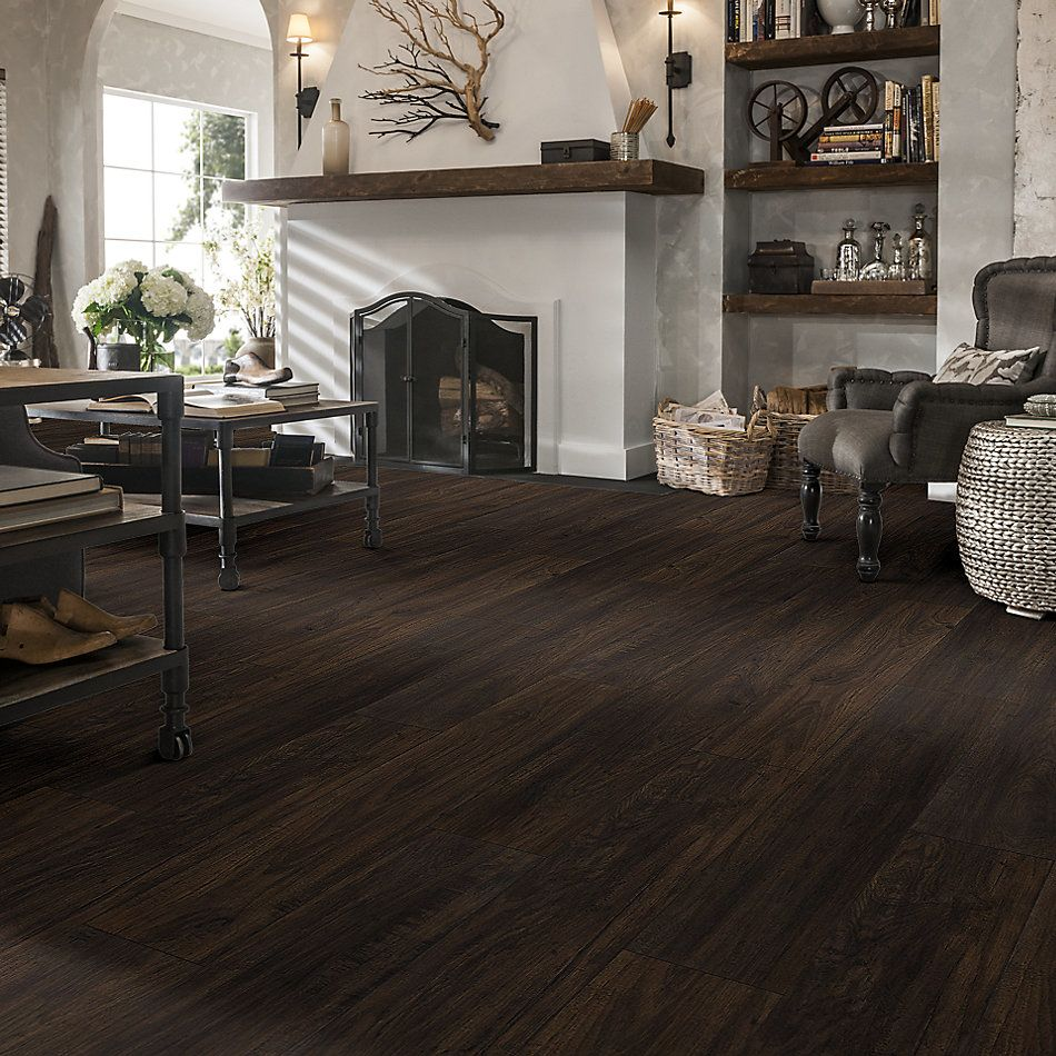 Shaw Floors Versalock Laminate Odyssey Dark Umber 09009_SL424