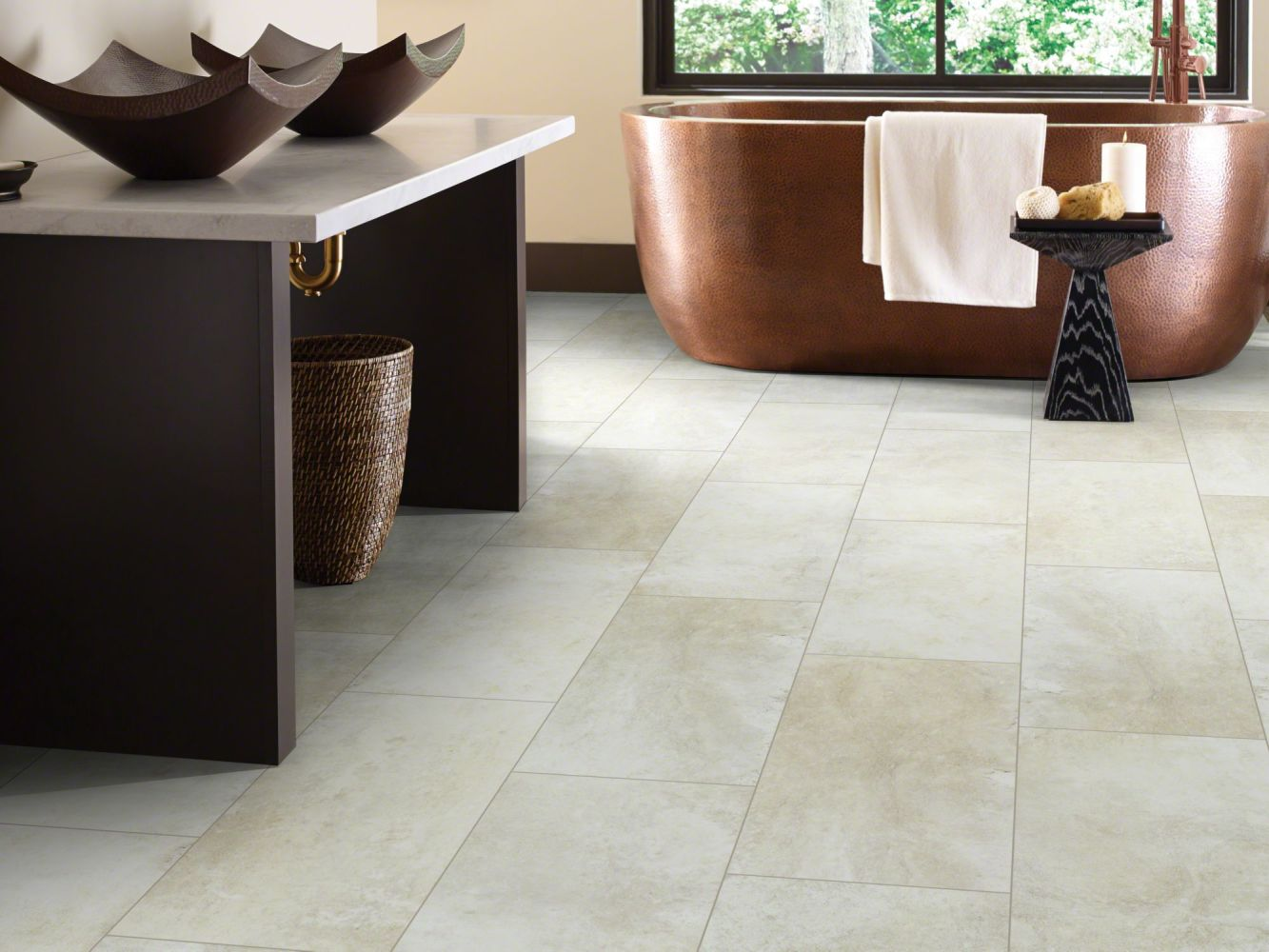 Shaw Floors Resilient Residential Paragon Tile Plus Shale 00281_1022V