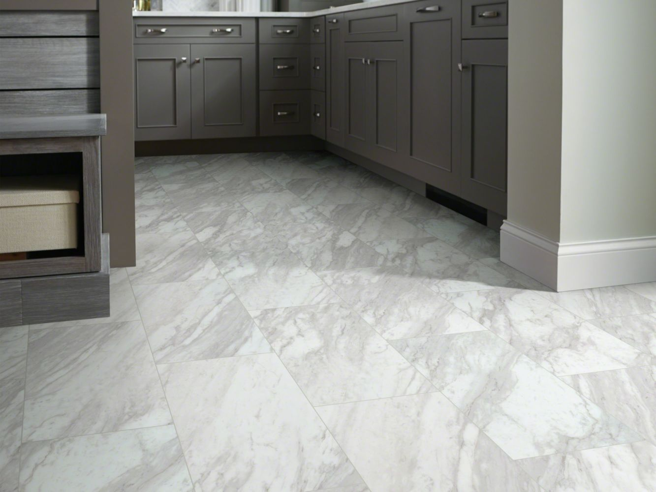 Shaw Floors Resilient Residential Paragon Tile Plus Oyster 01010_1022V