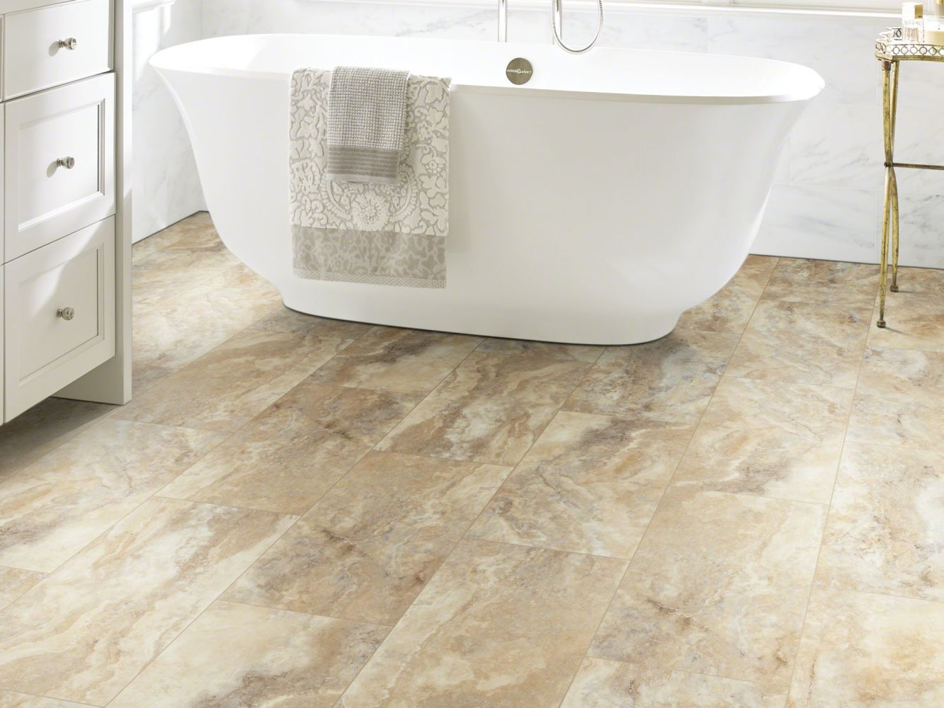 Shaw Floors Resilient Residential Paragon Tile Plus Clay 07052_1022V