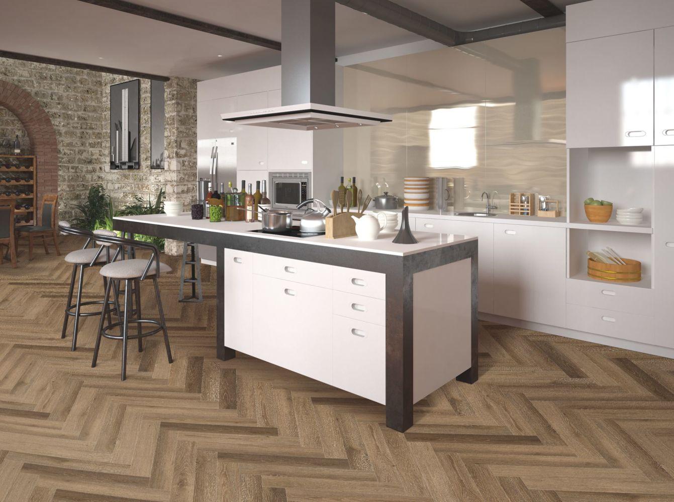 Shaw Floors Resilient Residential Chevron Ellijay Oak 04484_123CT