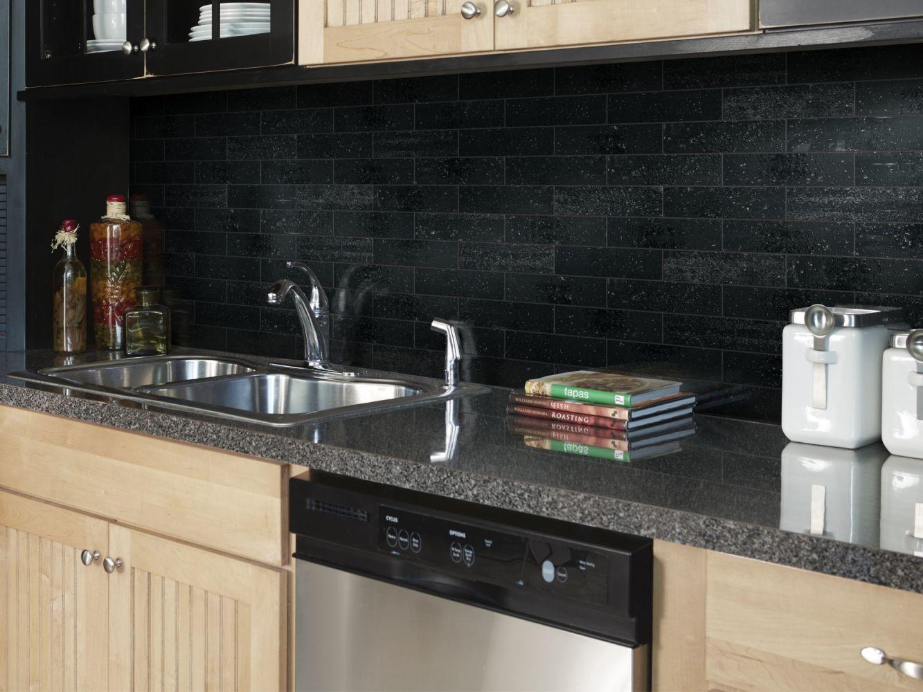 Shaw Floors Ceramic Solutions Geoscapes Brick Black 00555_194TS